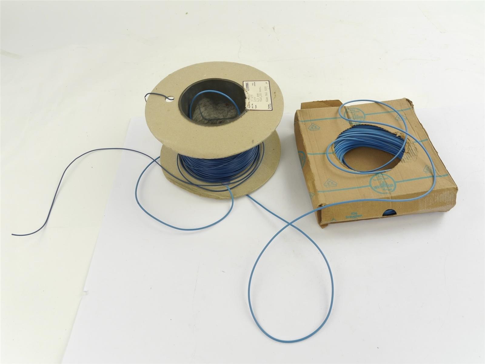 E132 Kromberg&Schubert Bechtold 2x Zubehör Kabel Litze blau 0,5-1 mm² / ca 1,5kg
