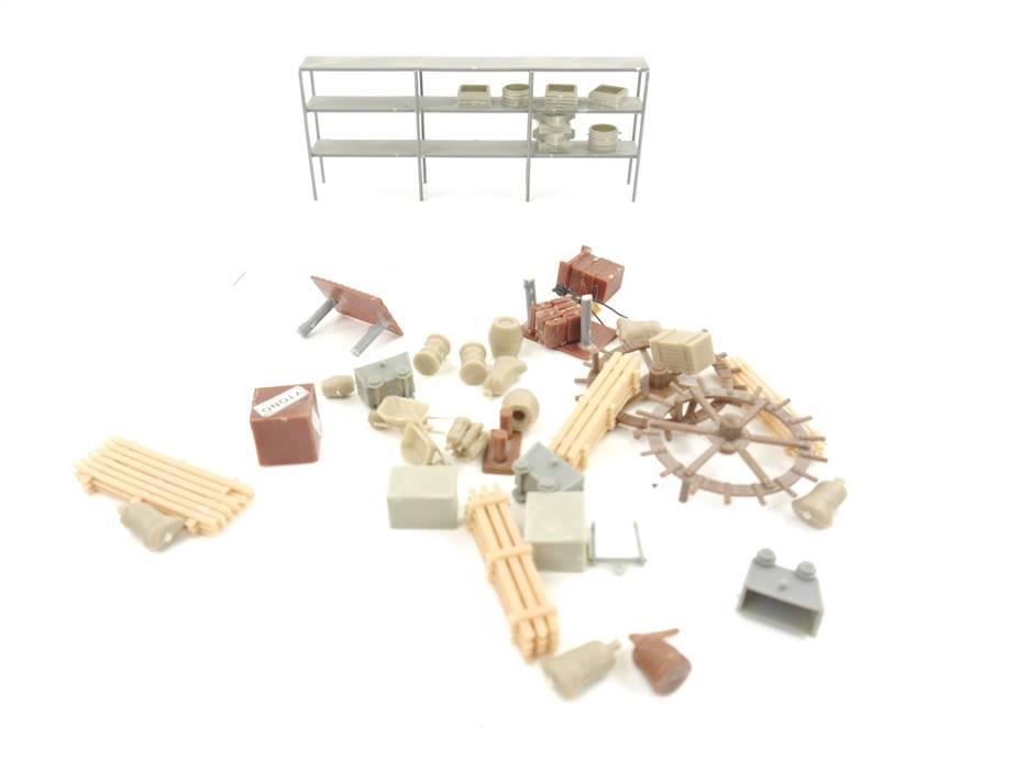 E280 H0 Ausschmückung Ausgestaltung Schwerlastregal Säcke Kisten Holzstapel etc.