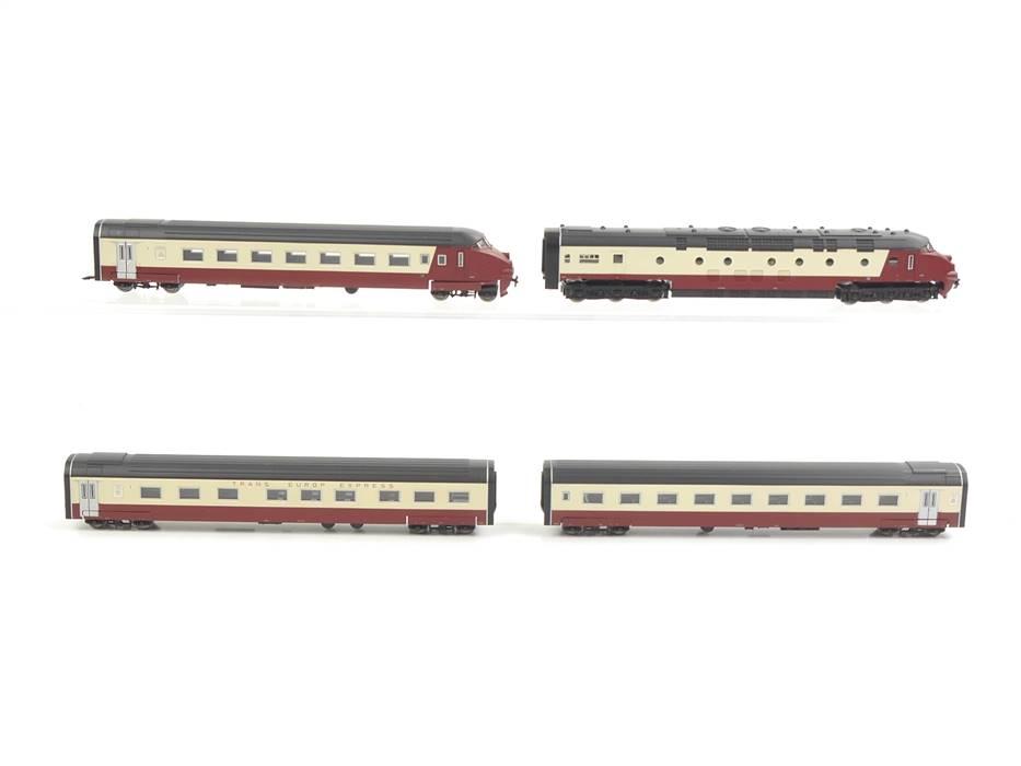 E330 Minitrix N 12224 Diesel-Triebwagenzug 4-tlg. TEE SBB / DSS