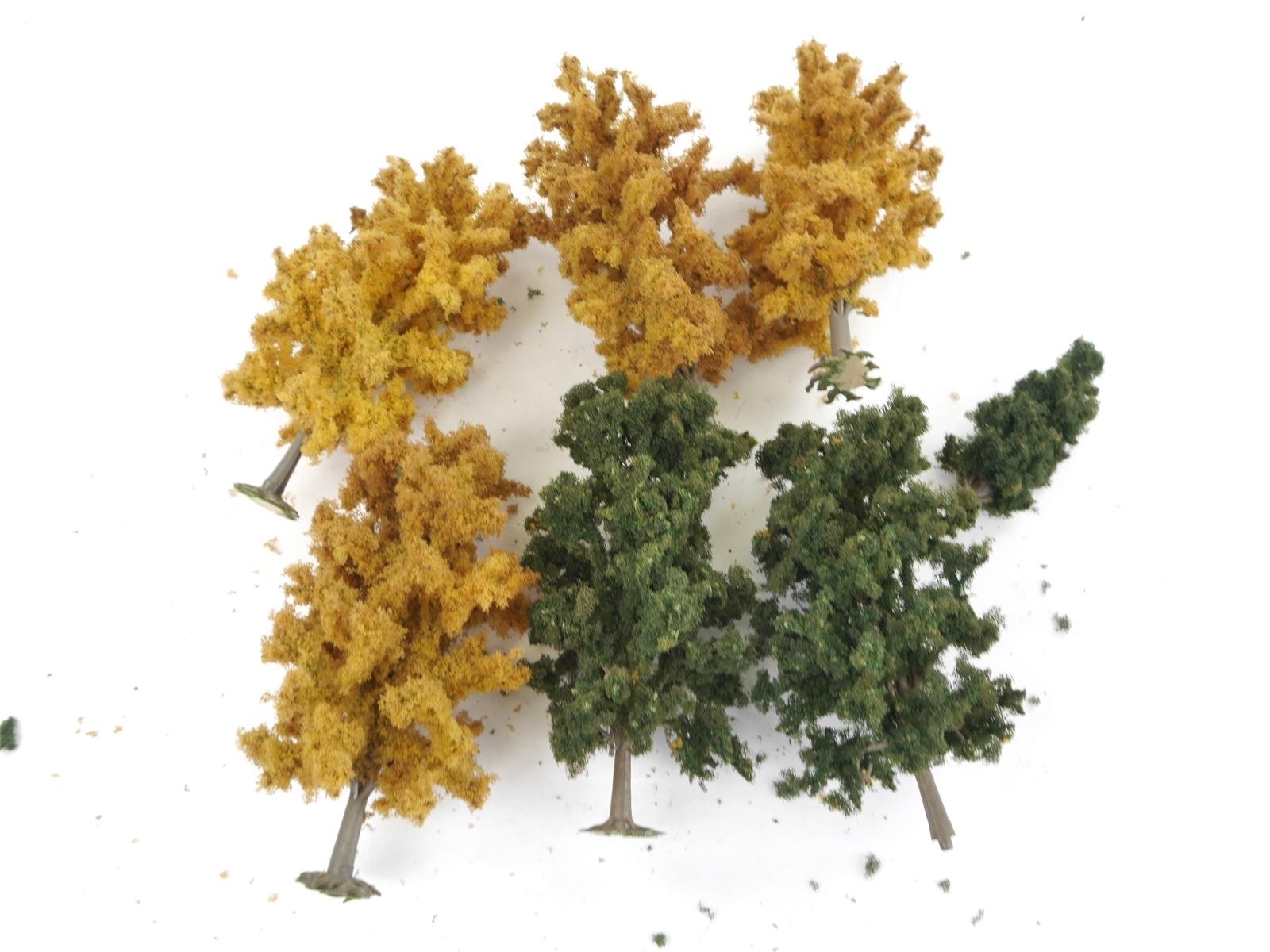 E122 H0 6x Landschaftsbau Bäume Laubbäume Herbstbäume / ca. 10,5-19 cm