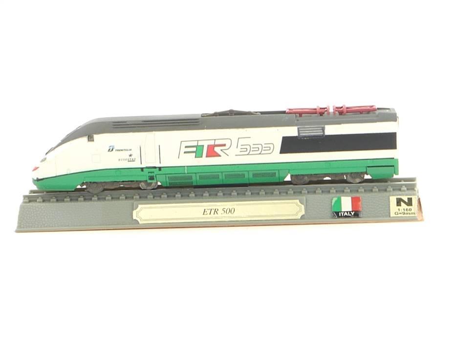 E296 Del Prado N Standmodell Triebwagen Trenitalia ETR 500 Italy