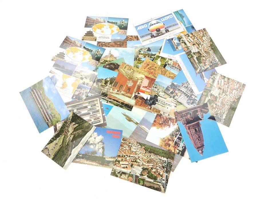 E169 31x Ansichtskarte ungelaufen - Menorca Nepal Bhaktapur Salzburg etc.
