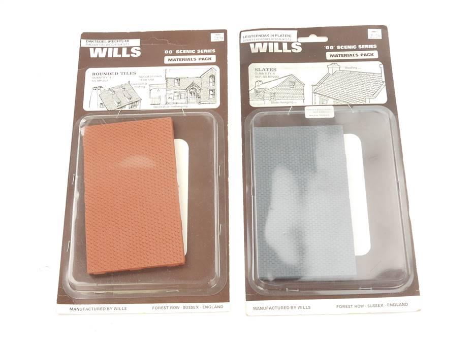 E169 Wills H0 203 207 Dachplatten Dachziegel Schieferdach 13,3 x 7,6 cm *NEU*