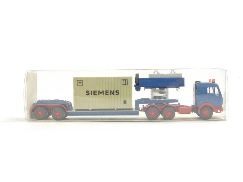 """E169 Wiking H0 29 504 Modellauto LKW Schwerlastzug MB """"Siemens"""" 1:87 *TOP*"""