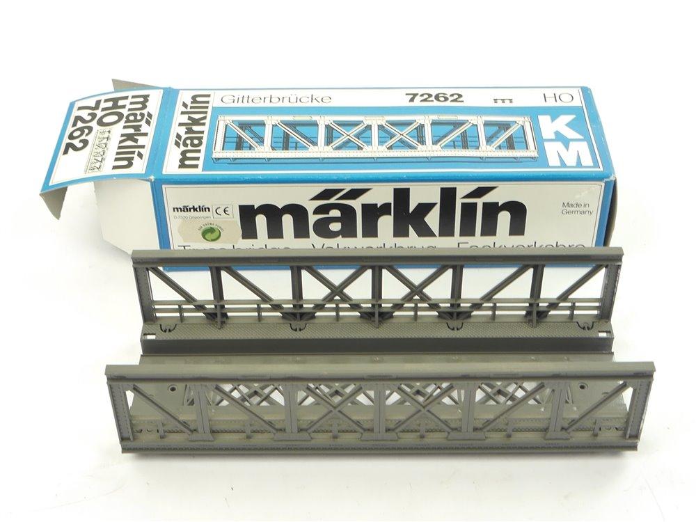 E254 Märklin H0 7262 Kastenbrücke Gitterbrücke für K+M-Gleis / 180 mm *Note 2*