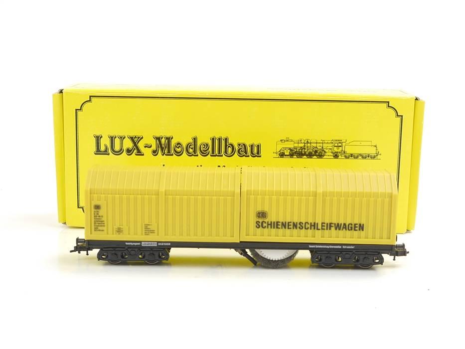 E322 Lux H0 9131 Güterwagen Schienenschleifwagen 9091-88-35 DB / NEM *TOP*