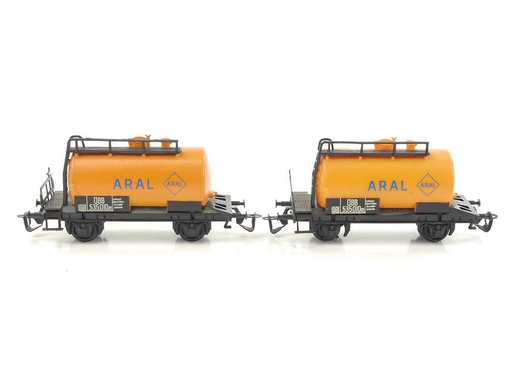 "E271 BTTB TT 2x Güterwagen Kesselwagen ""Aral"" ÖBB"