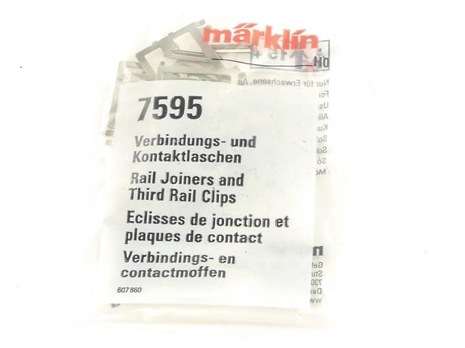 E161 Märklin H0 7595 Verbindung- und Kontaktlaschen für K-Gleis *NEU*